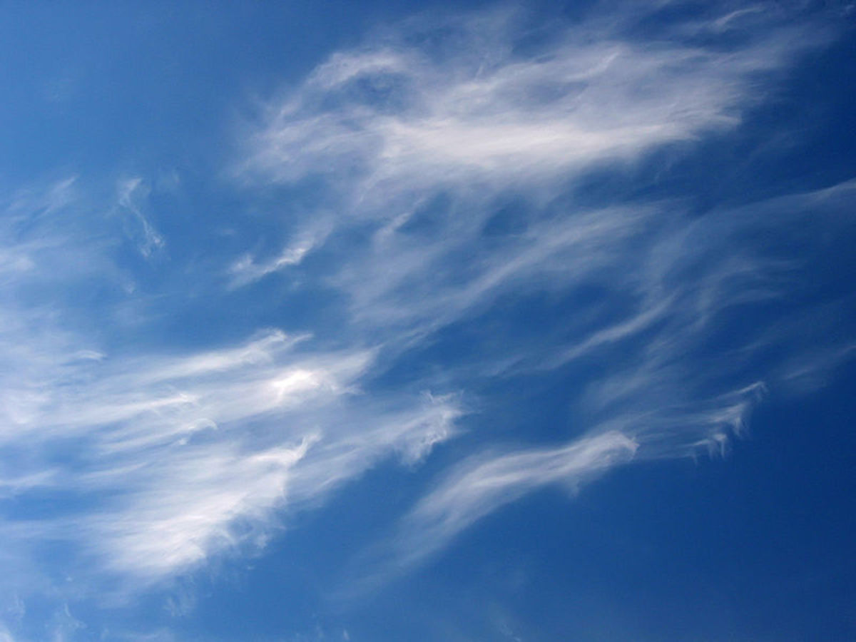 Cirrus clouds over Warsaw, Poland