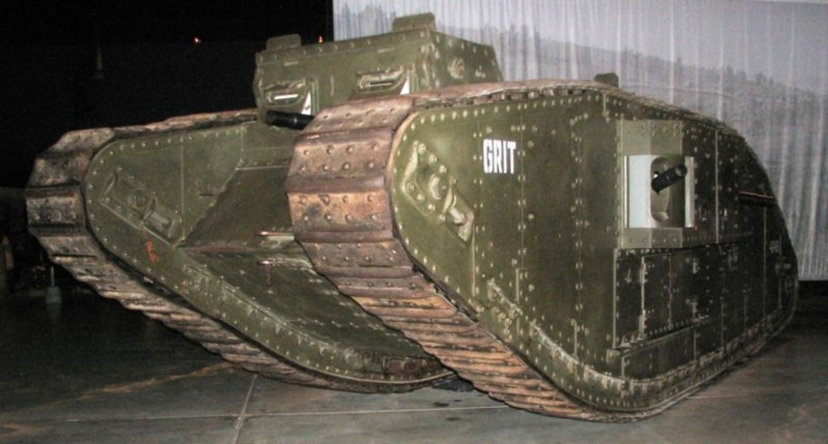 WW1: Mark IV Female Tank in Anzac Hall, Australian War Memorial, Canberra.