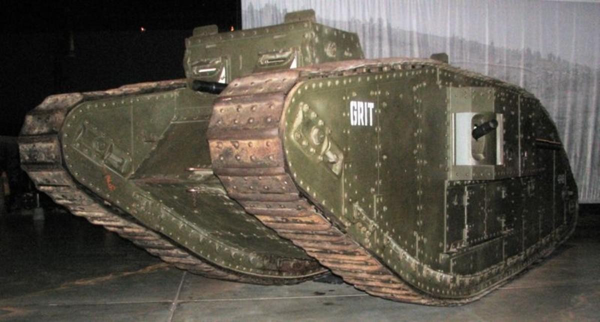 WW1: Mark IV Female Tank in Anzac Hall, Australian War Memorial, Canberra.