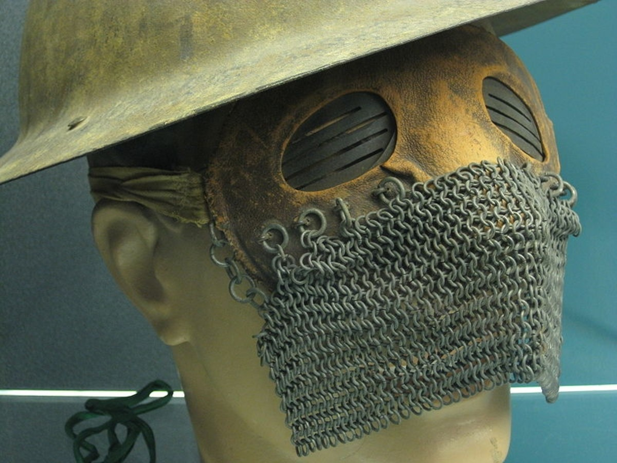 Splatter Mask worn by tank crews in WW1 to protect from flying fragments.