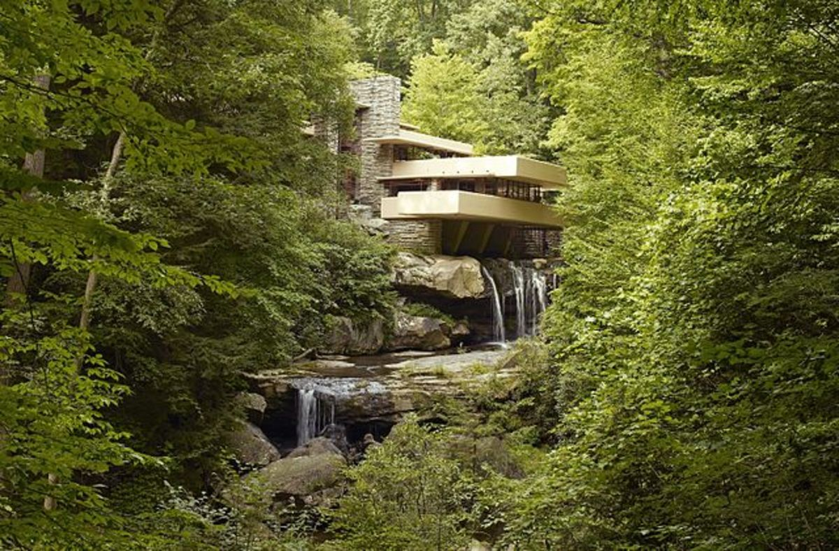 Hidden among greenery, Fallingwater remains the quintessential Wright structure.
