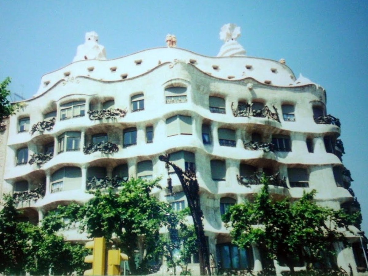 Antoni Gaudi's fabulous Casa Milà in Barcelona, Spain is now an apartment house.