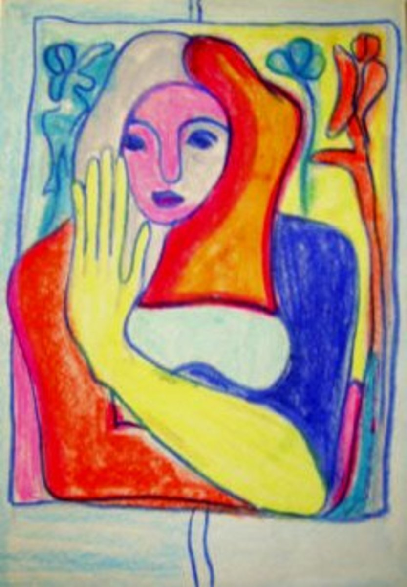 Bright vivid colors and somewhat abstract forms characterized Fauvism and Expressionism.