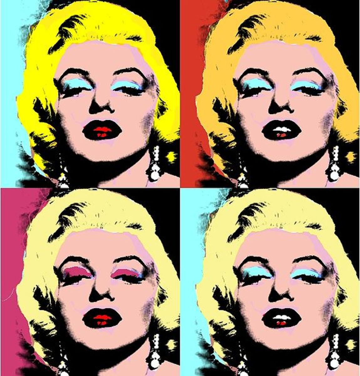 An image done in the style of Andy Warhol, who arguably extended and innovated the Pop Art movement.