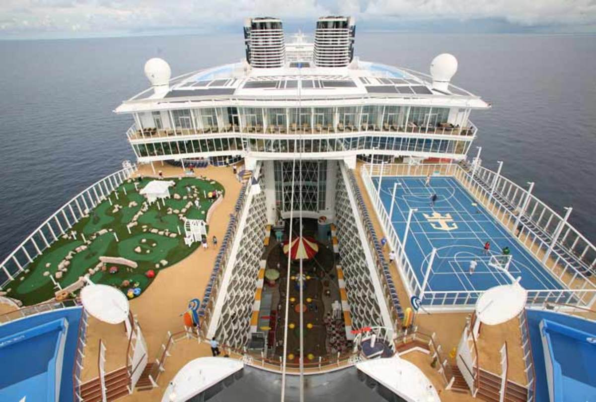 Modern cruise ships are definitely much larger than the Titanic.