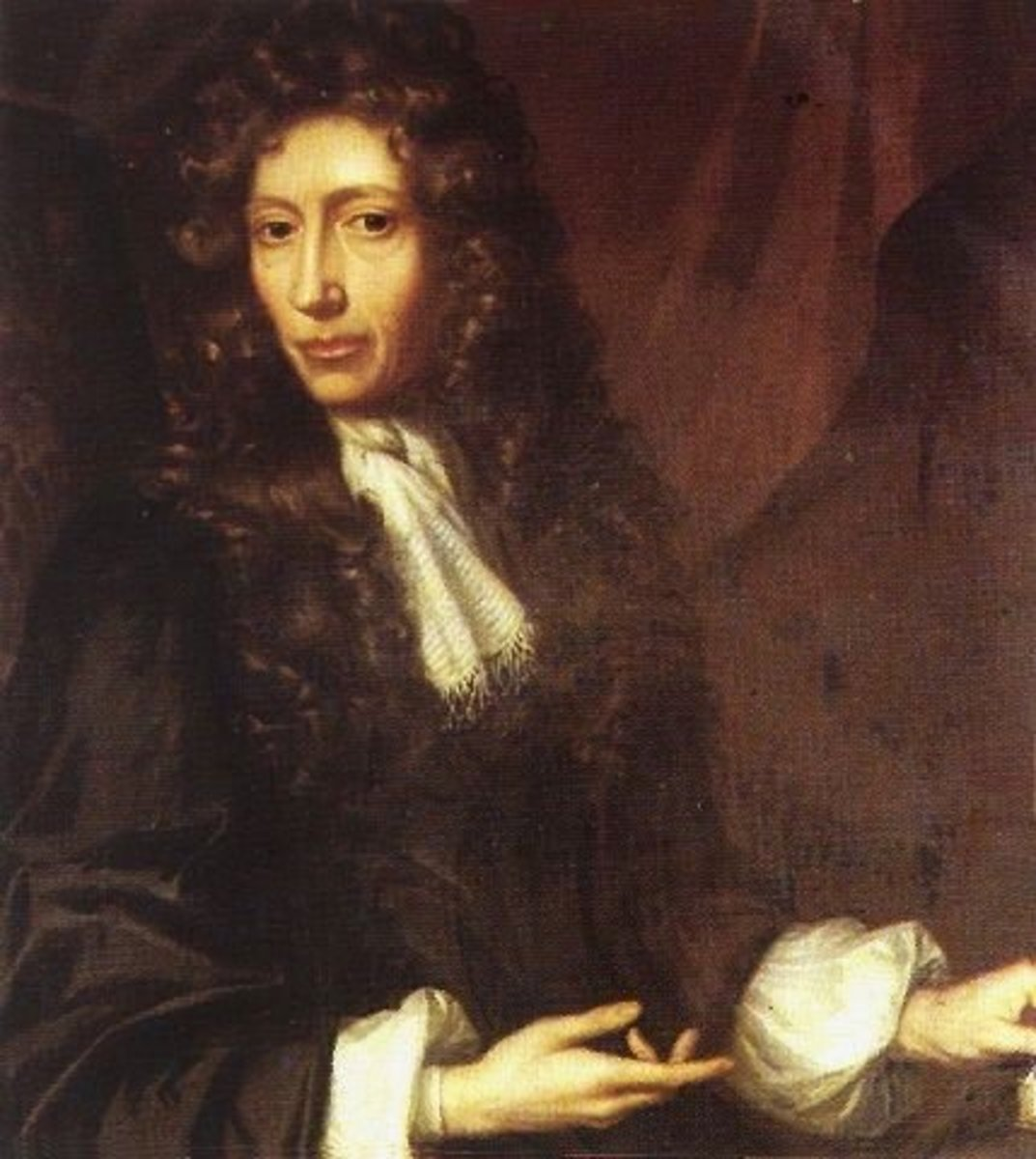 Portrait of Robert Boyle.