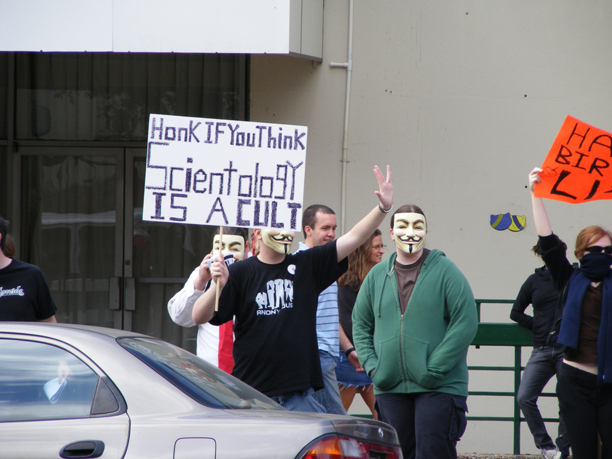 2008 Anti-Scientology Protest, Austin, Texas