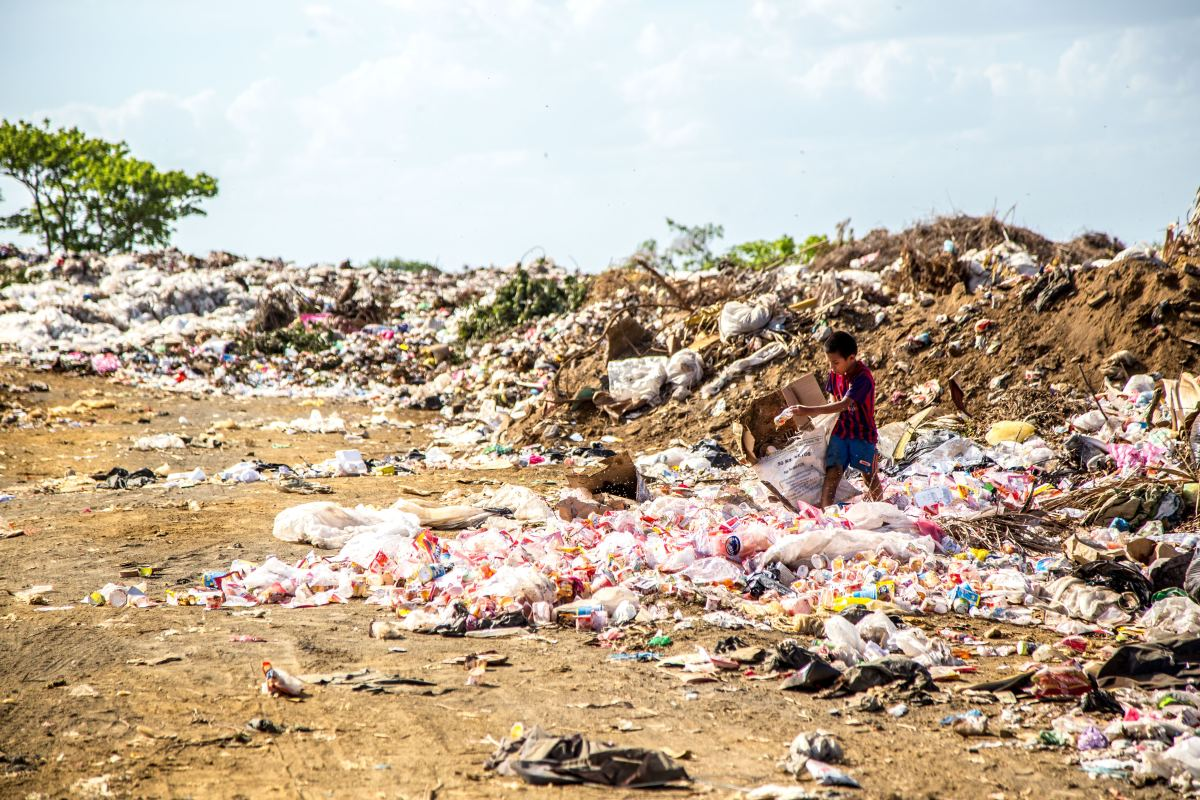 Trash Piled in Nicaragua