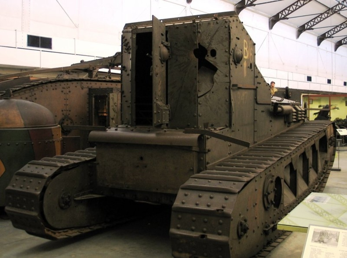 WW1: Back of Medium Mark A Whippet tank (A347 Firefly), The Royal Museum of the Army, Brussels.