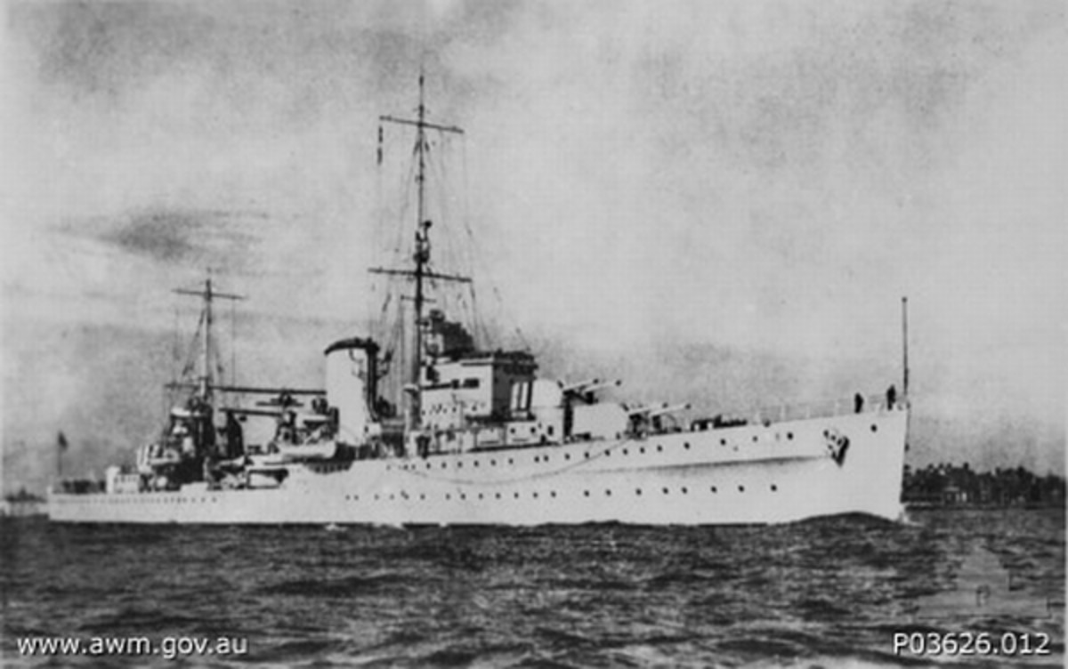 WW2: Leander class light cruiser HMS Achilles was a sister ship to HMS Ajax.