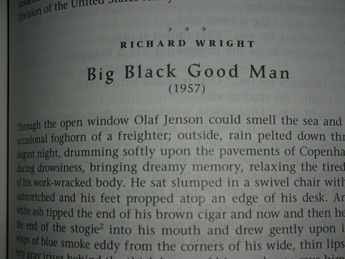 richard wright s big black good man Richard wright s big black good man an analysis of the conflict between the main characters which supports the theme by providing a third person point of.