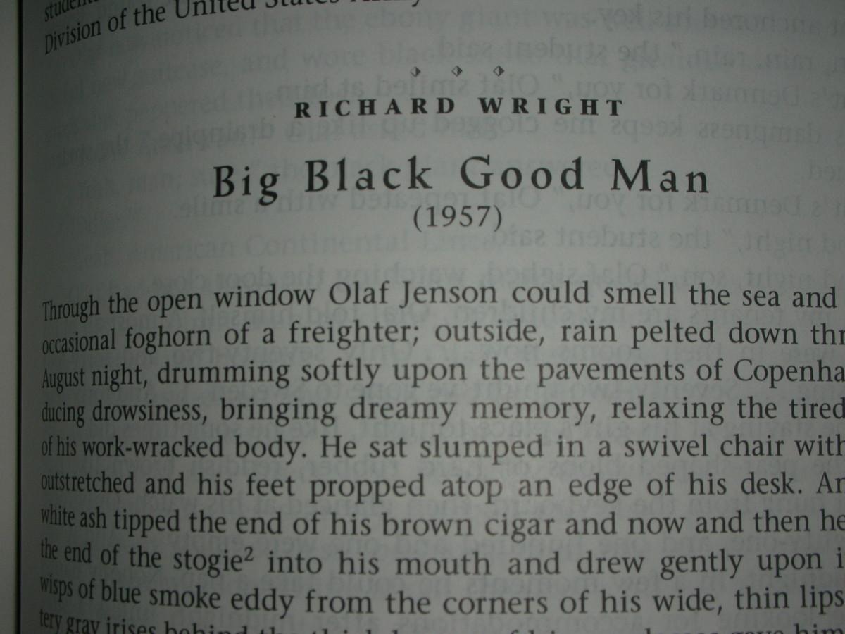 "First page of ""Big Black Good Man"""