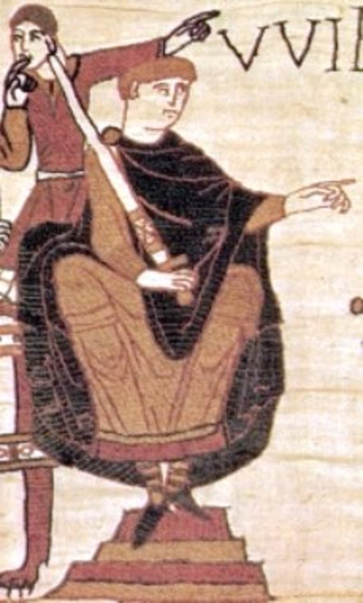Duke William of Normandy on the Bayeux tapestry