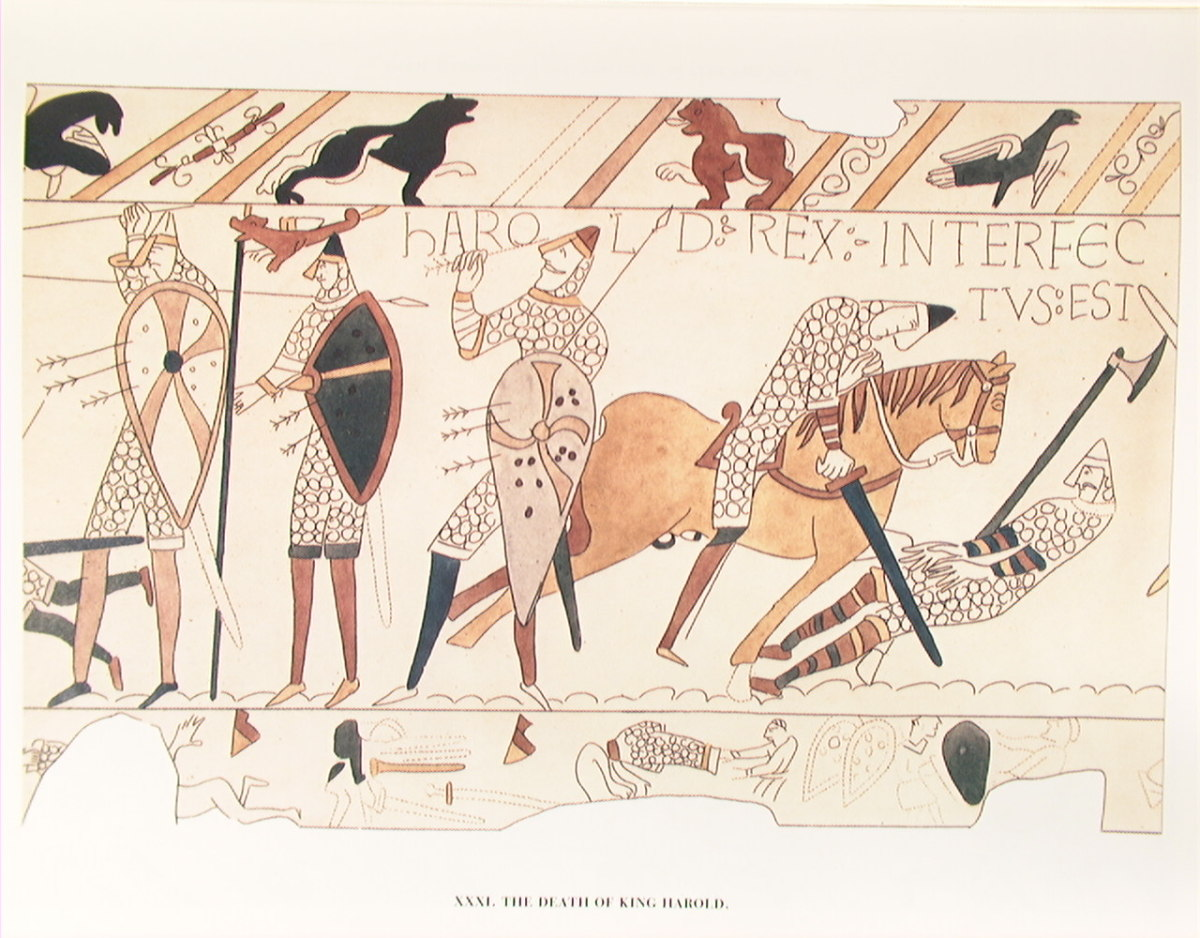 The death of King Harold on the Bayeux tapestry