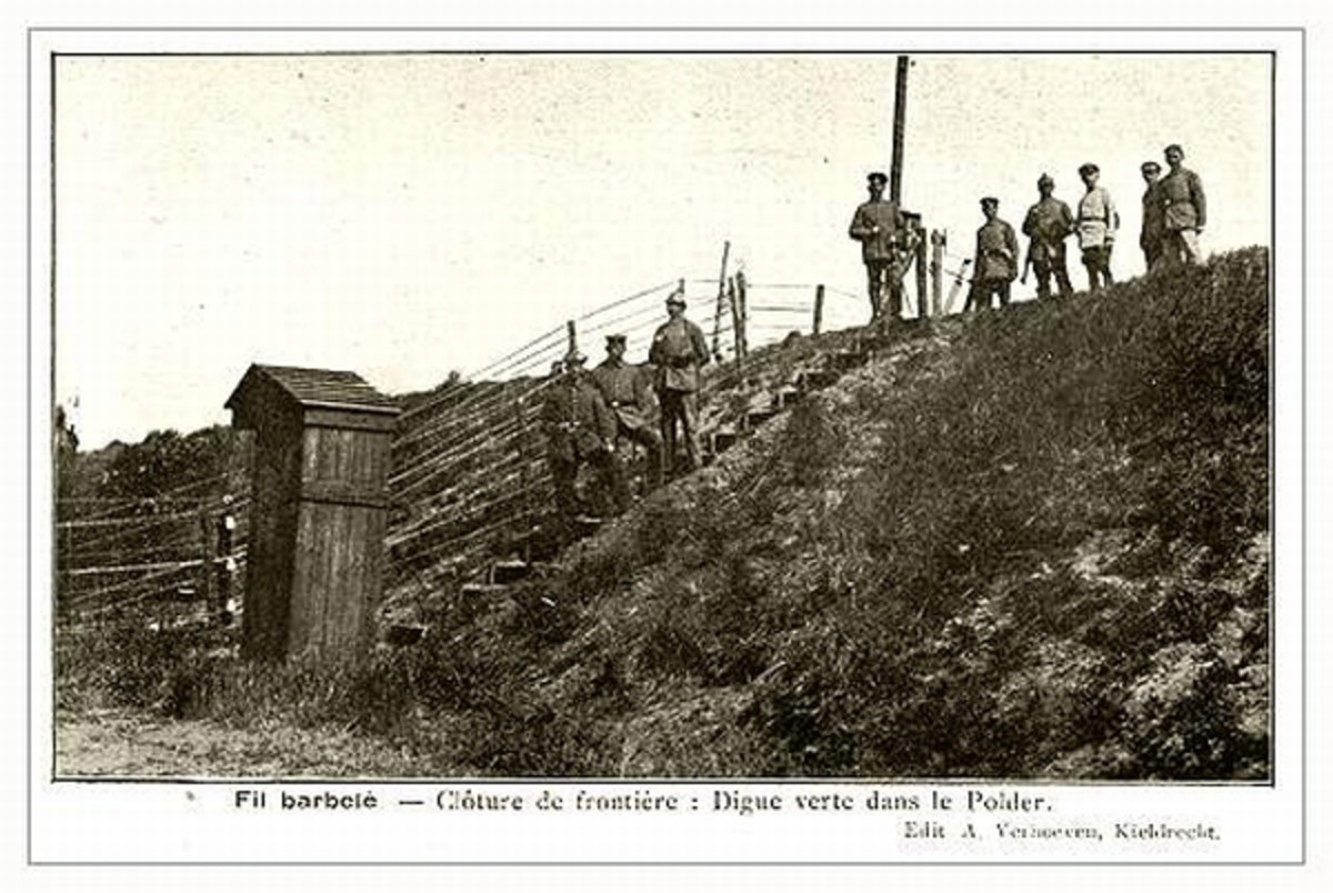 WW1: A small guard house along a dike.