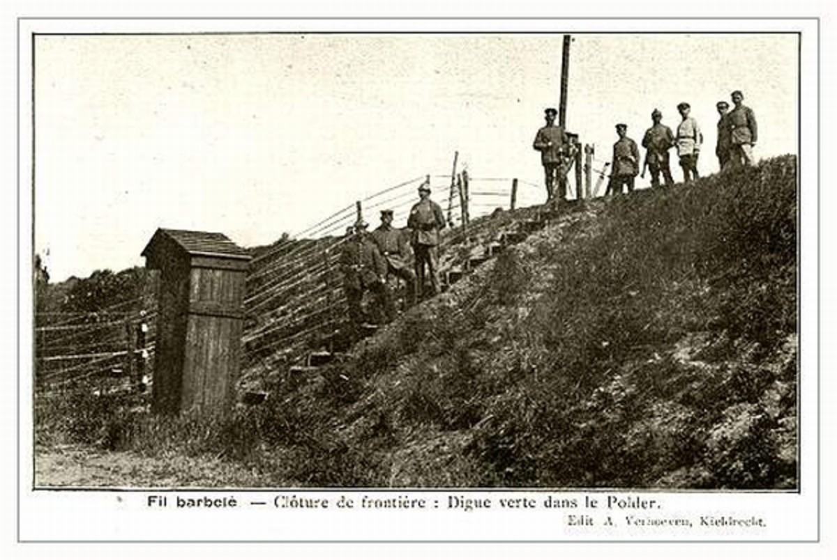 WW1: A small guard house along a dike.