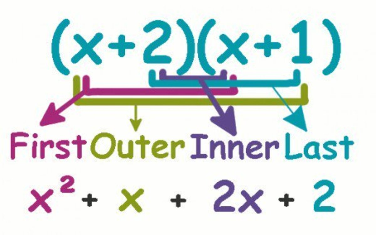 There are a number of operations that can be done on polynomials. Here the FOIL method for multiplying polynomials is shown.