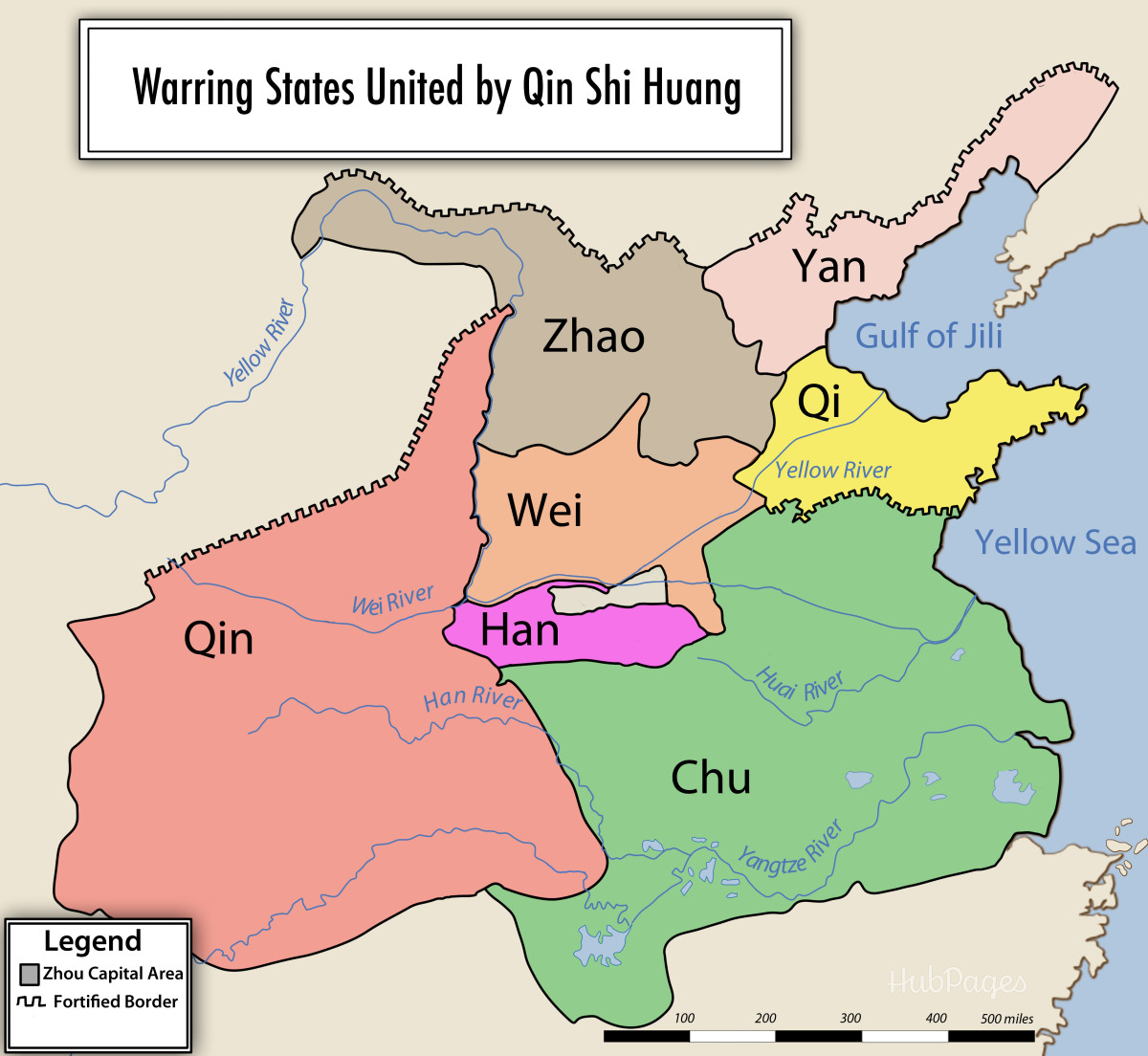 Qin Shihuan conquered all of the states in China, ending the Warring States period.
