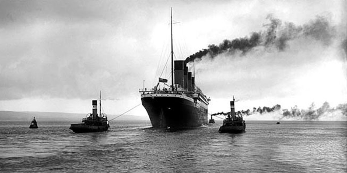 Titanic leaves Queenstown - her final port of call - and heads out to sea for the last time