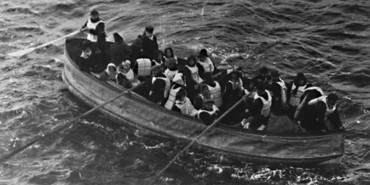 One of the 16 lifeboats launched from Titanic