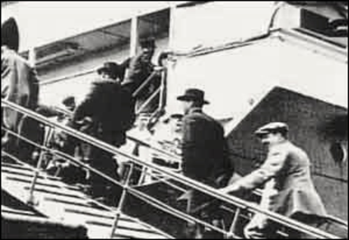 Passengers board the Titanic. But not all passengers were equal