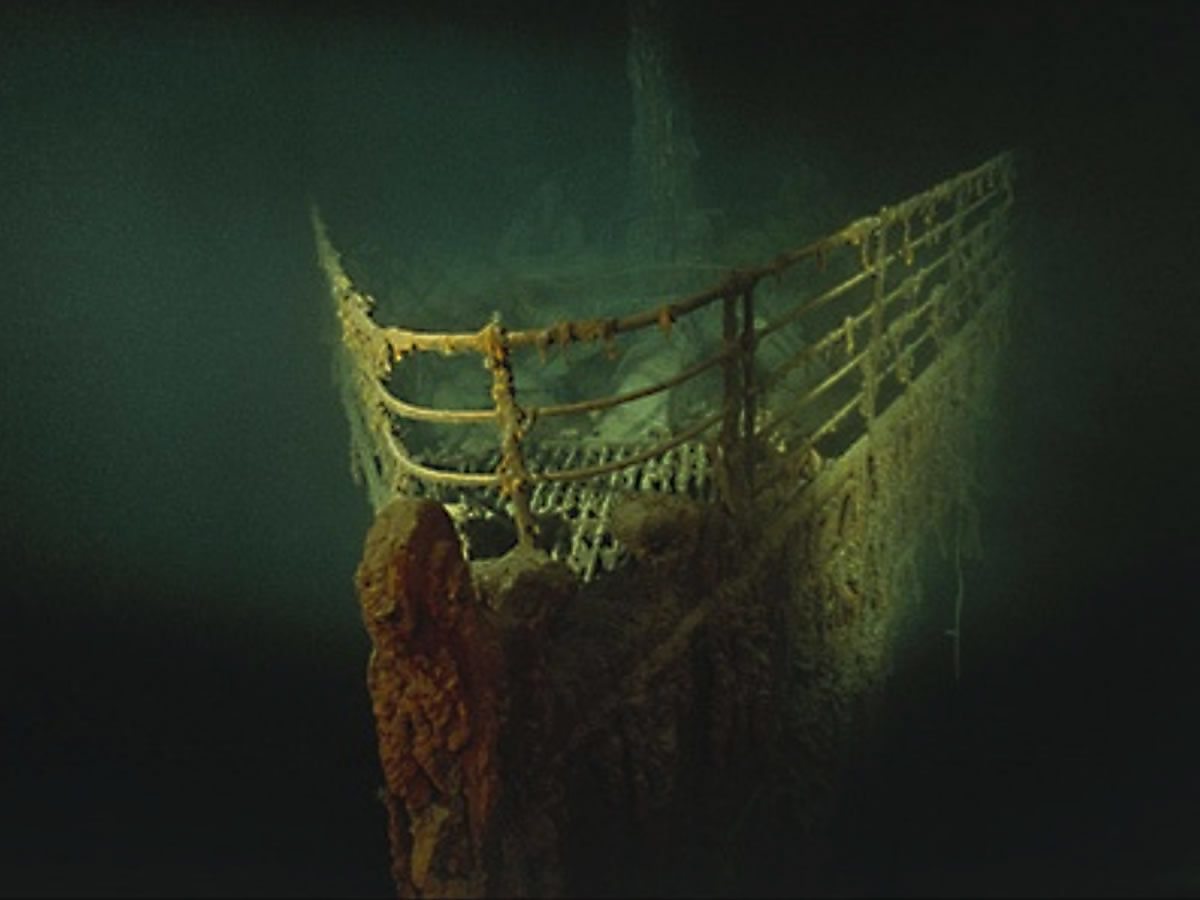 The bow of the wreck - as it is today