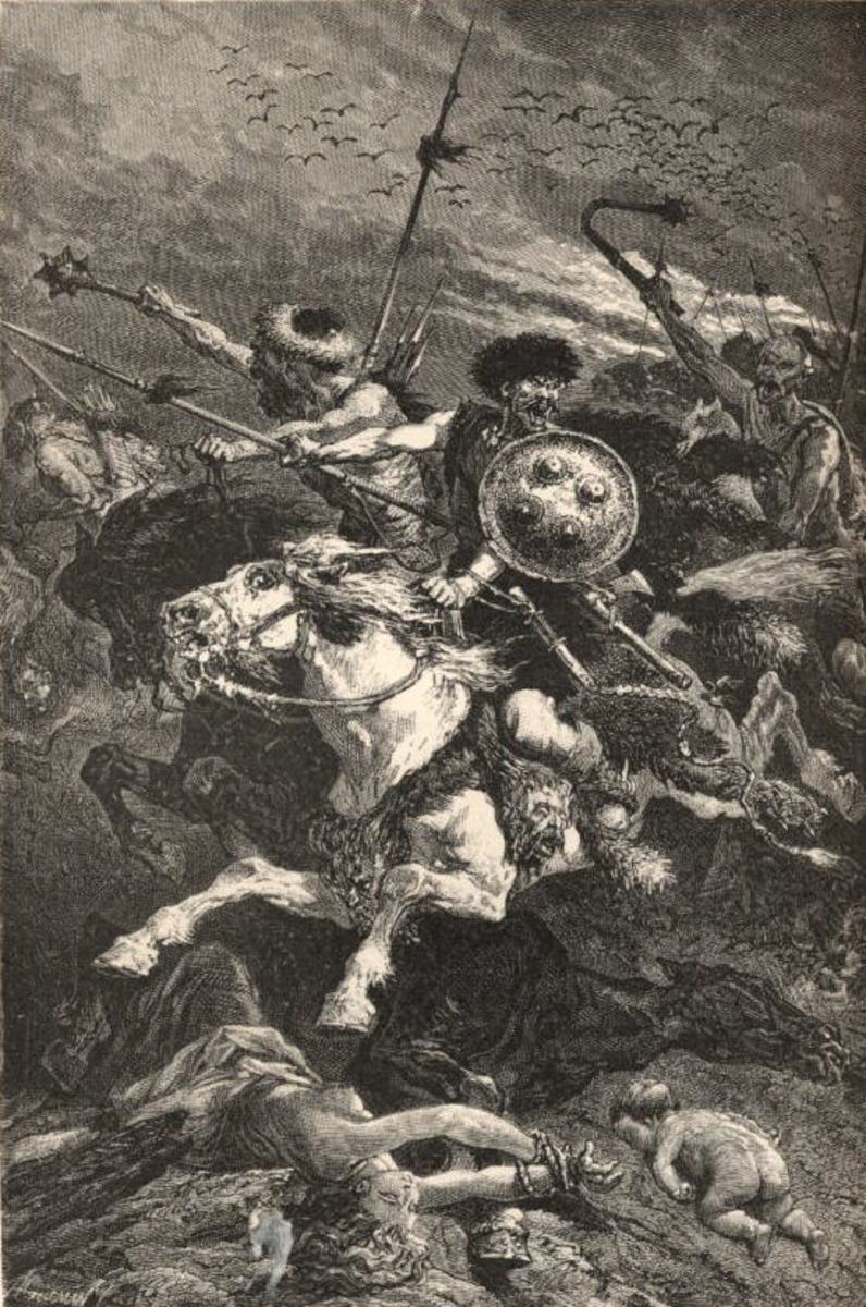 Hunnic Troops in the Battle of Chalons