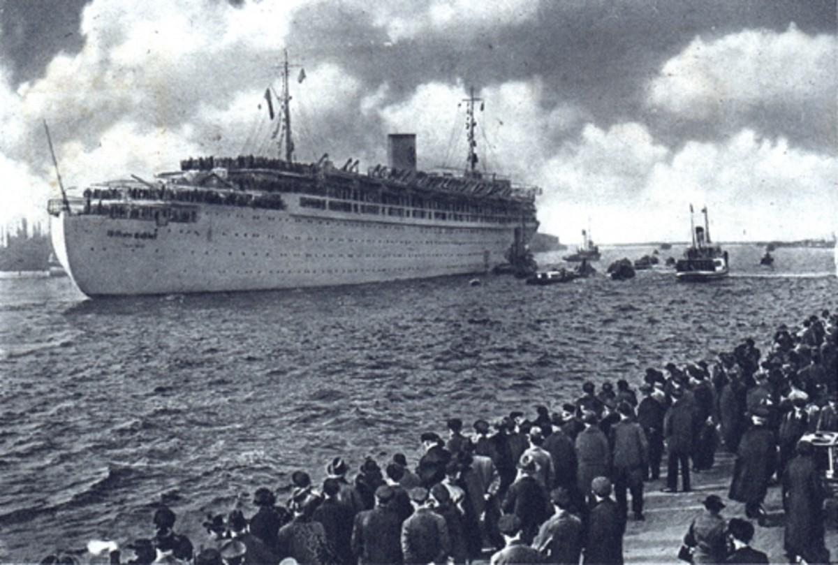 The passenger liner Gustloff (Wilhelm Gustloff). circa 1938