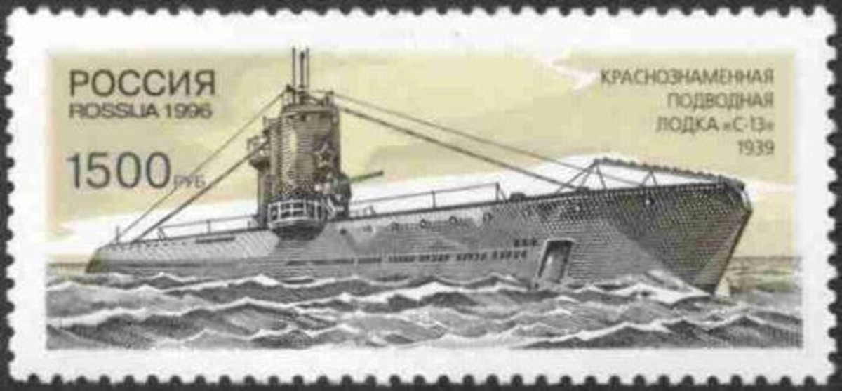 Russian Stamp. 1996. Soviet submarine S-13. 1500 roubles.
