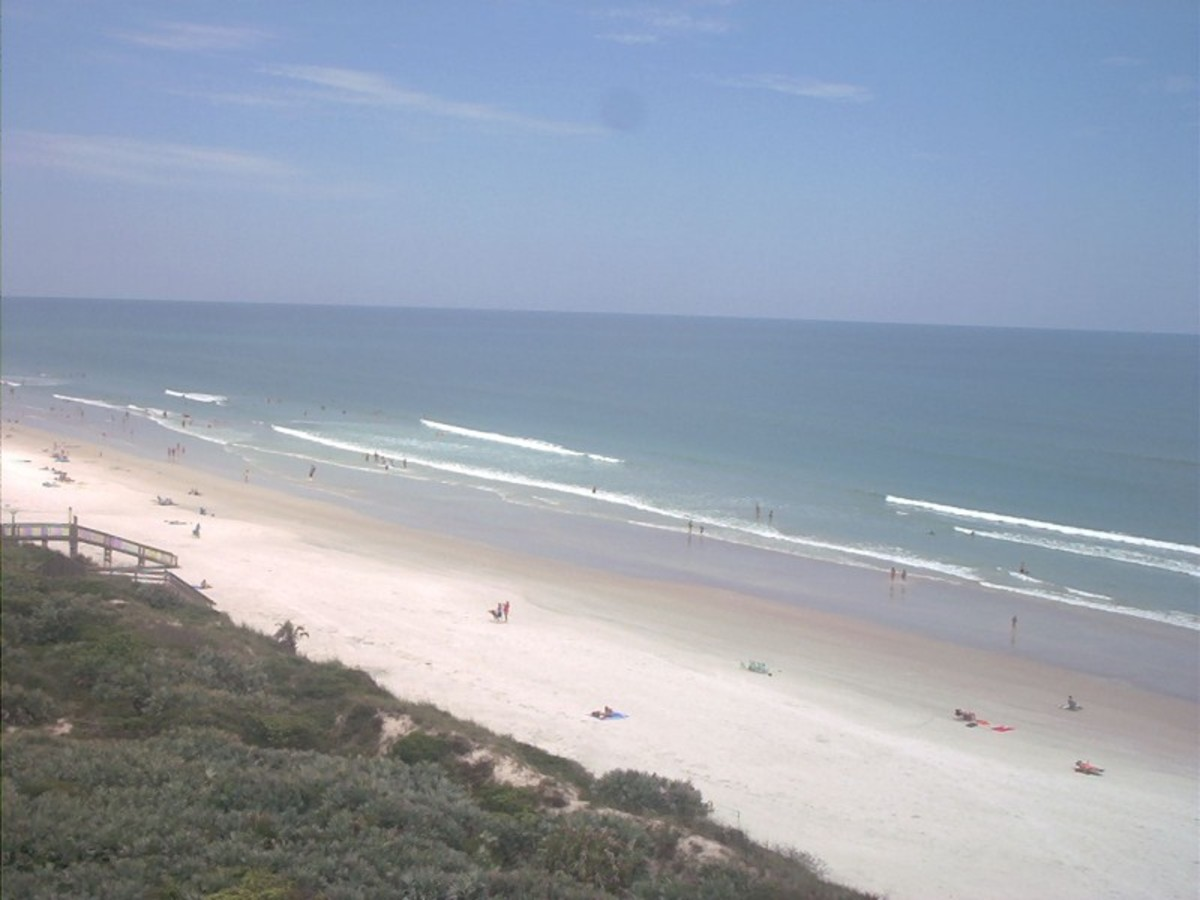 New Smyrna Beach- a beautiful but deadly paradise. A no go area for those who are afraid of sharks.