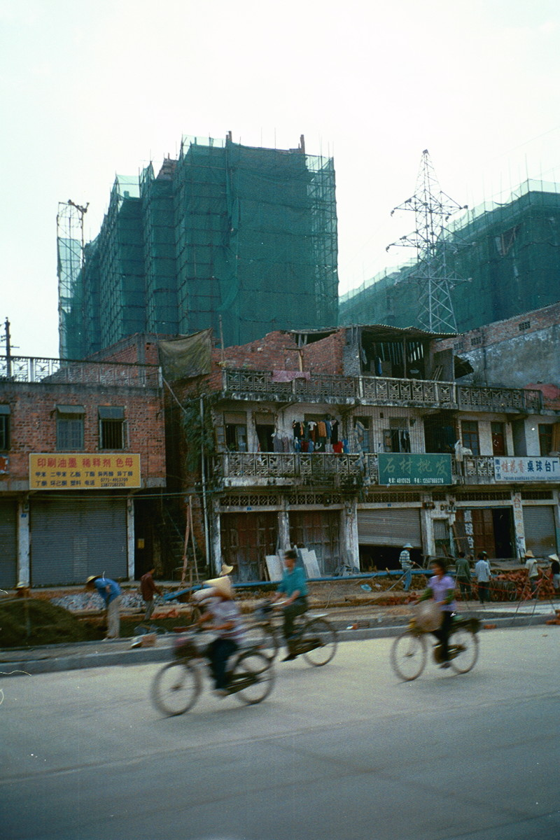 Nanning was being built up while old buildings were being torn down all over in 2002.