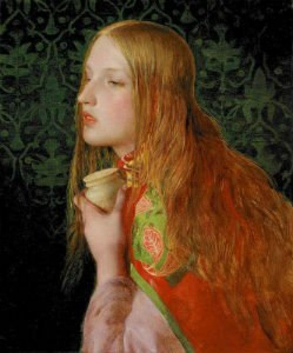 Painting of Mary Magdalene as a red head by Anthony Frederick Augustus Sandys.