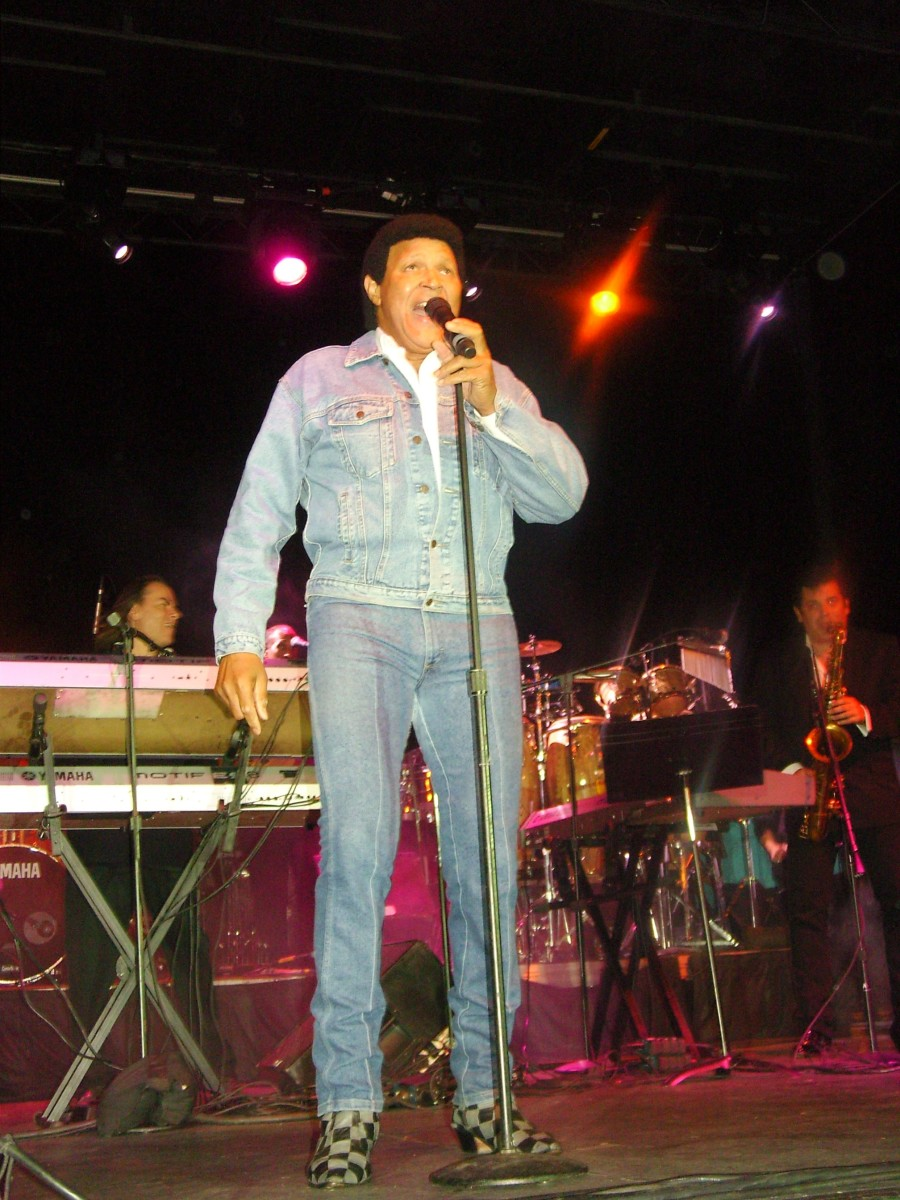 Chubby Checker wows the crowd at a concert in Philadelphia in 2009. I know, I was there and took this photo in person.