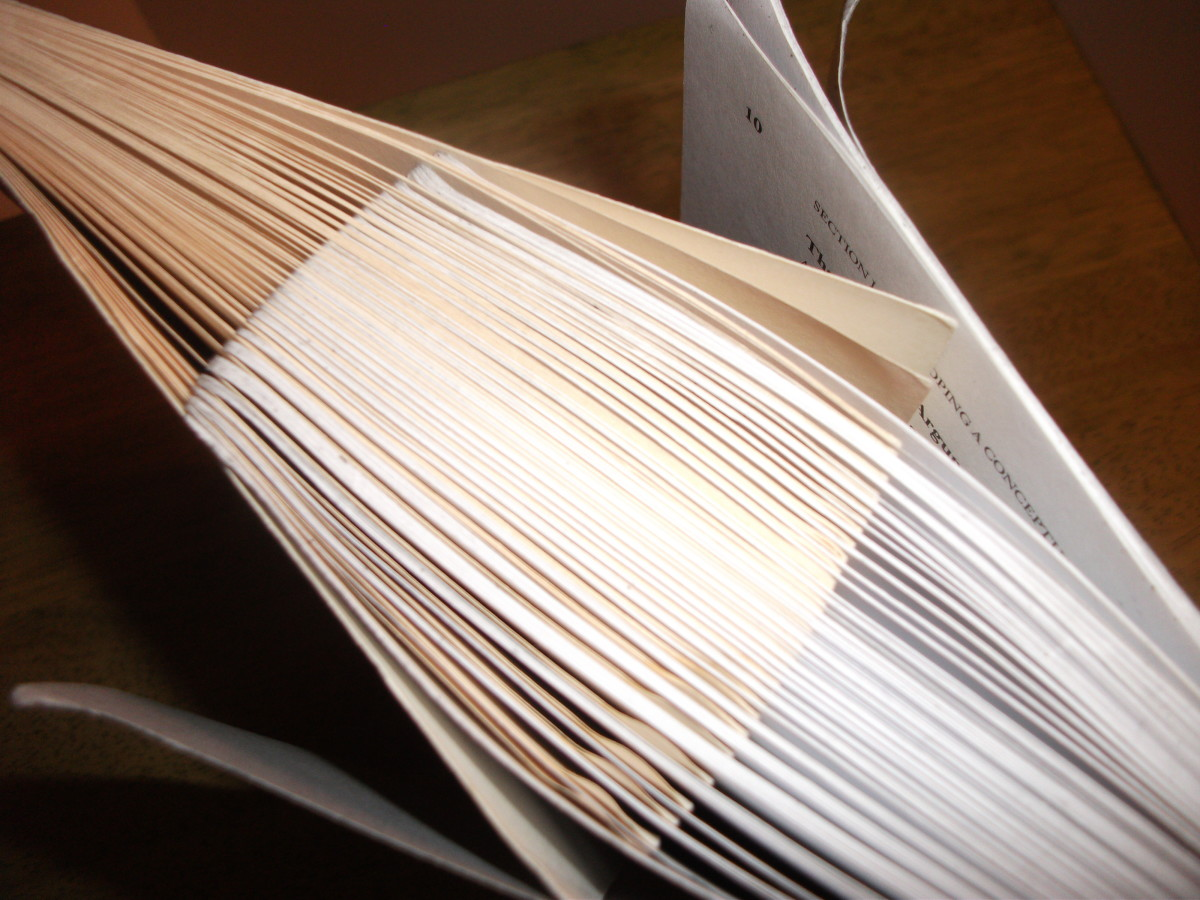 Interwoven pages of books will stick together so tightly they can't be pulled apart.