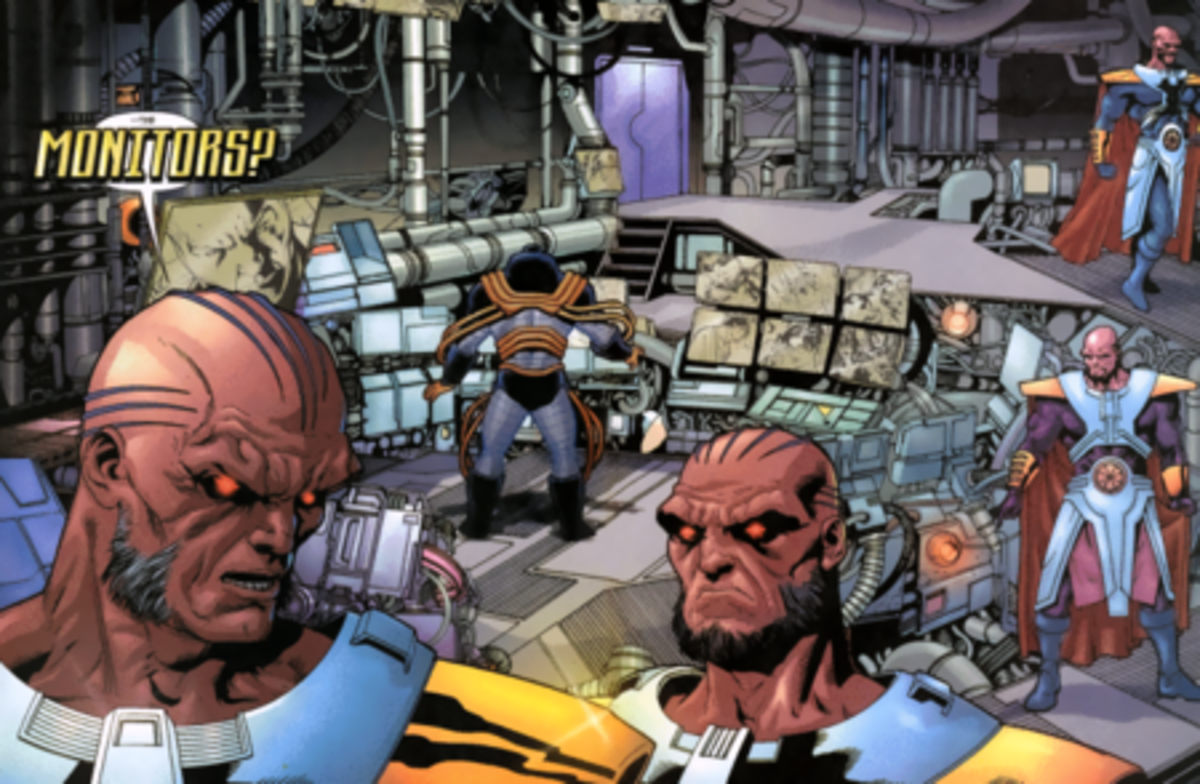 "DC Comics has ""The Monitors"" who watch 52 earths."