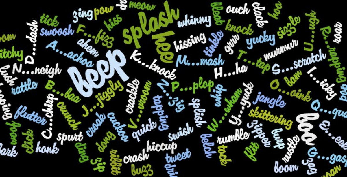 English-Language Onomatopoeia Words: Examples and Meaning