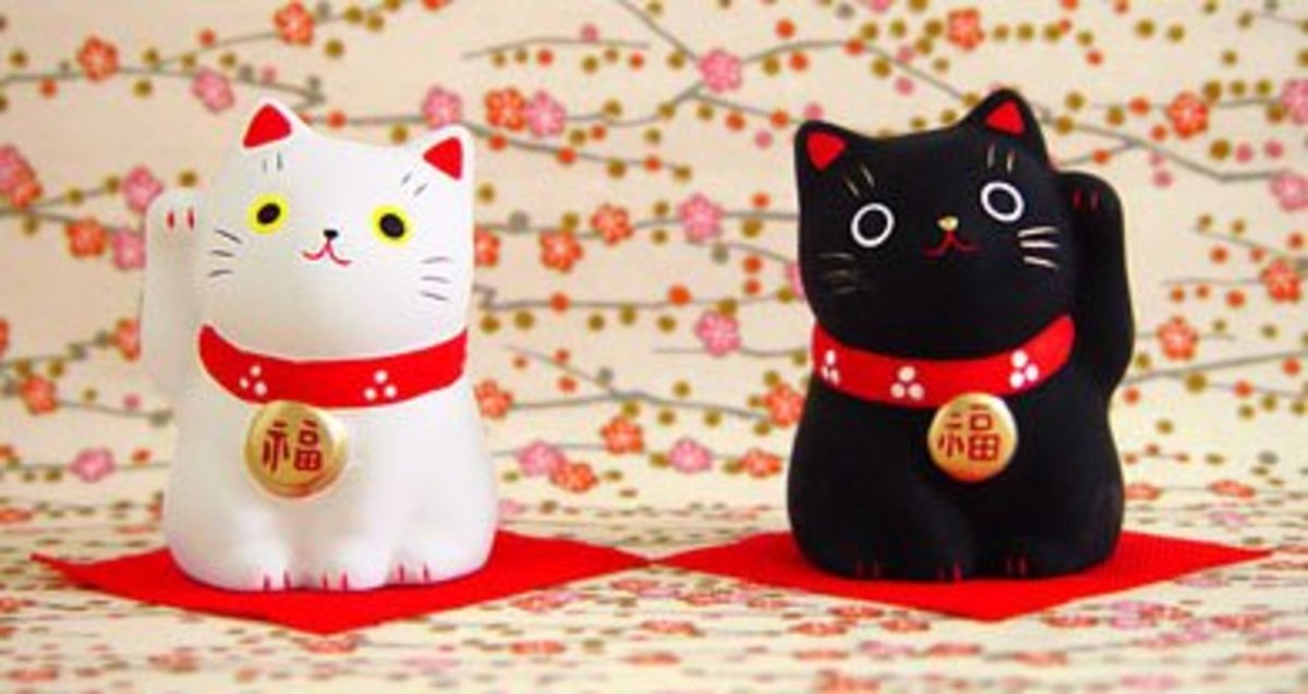 The colors of Maneki Neko have different meanings
