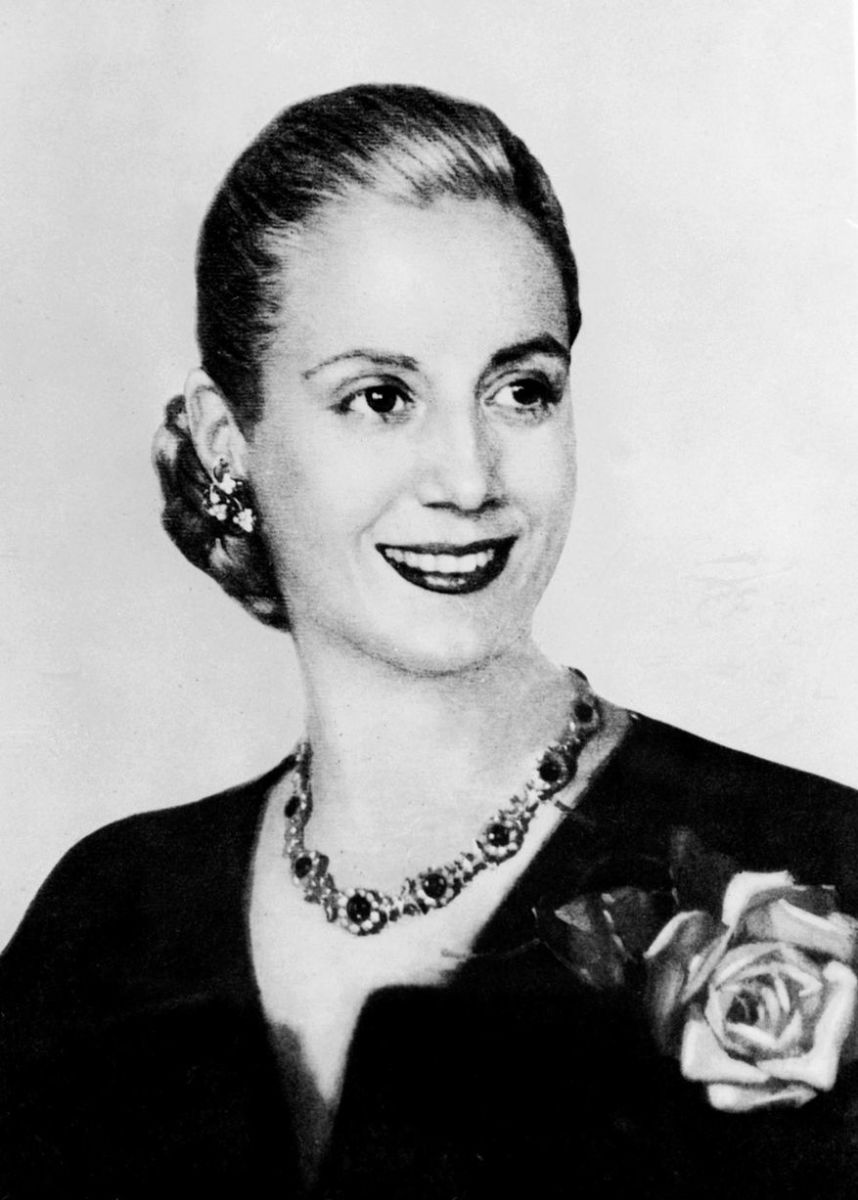 Alive, Eva Perón was considered one of the most beautiful women in Argentina.