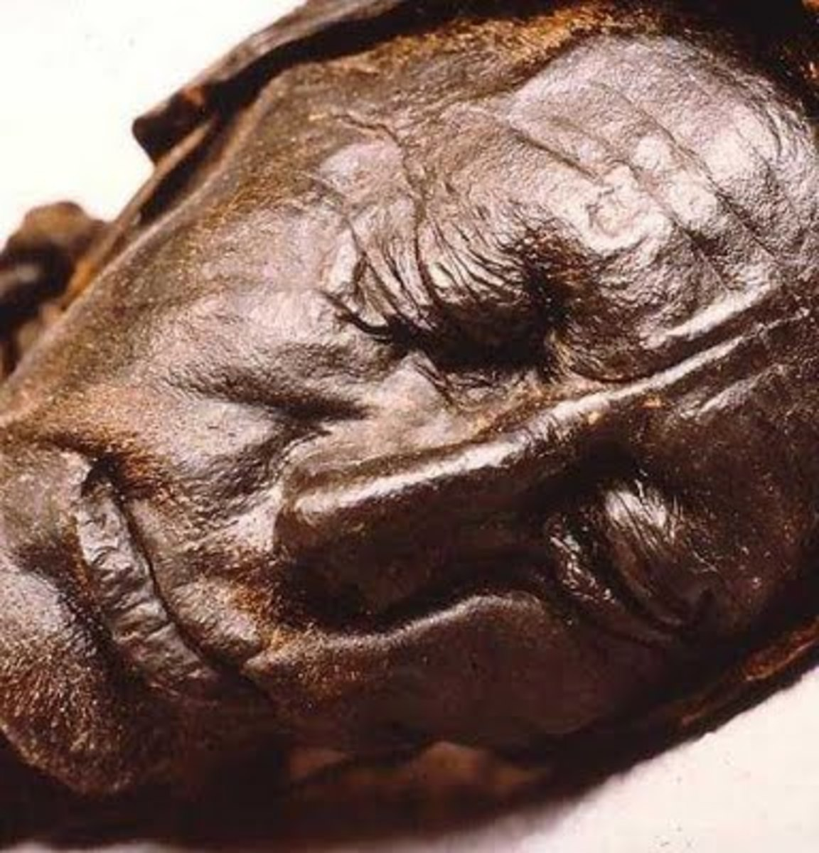 This peaceful face of a careworn old man was so well preserved, it was thought to be of a recent murder victim.