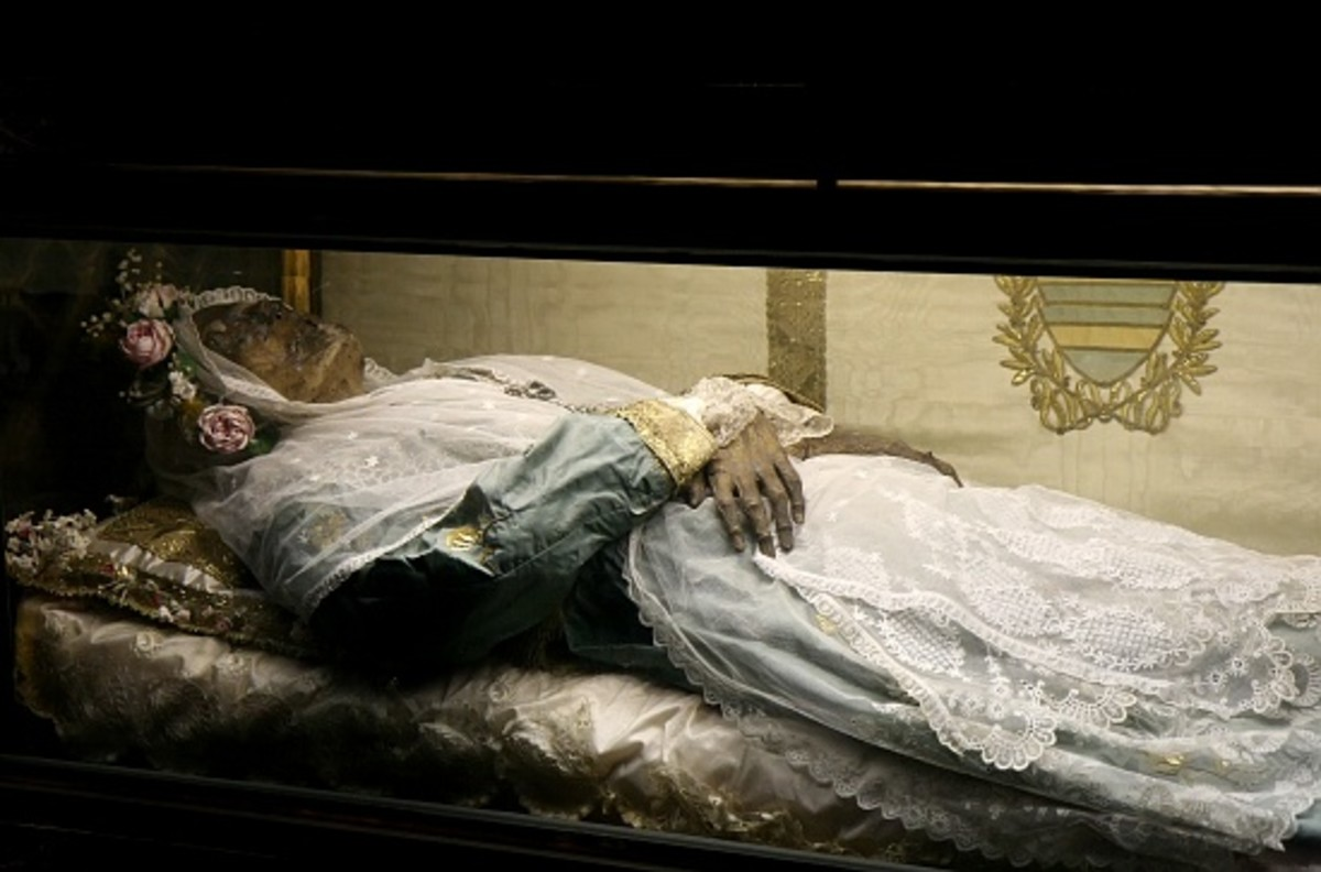 The 800 year old body of St. Zita.