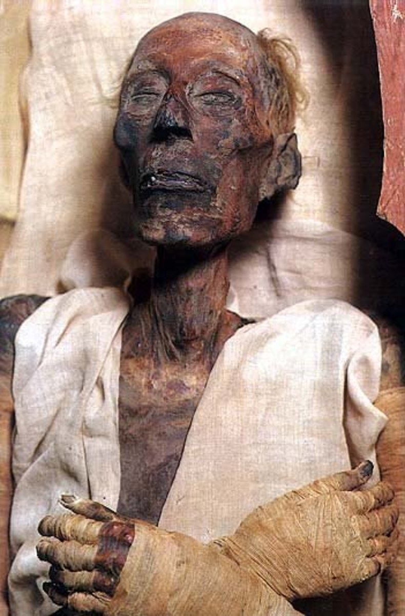 Notice the nose of the mummy.