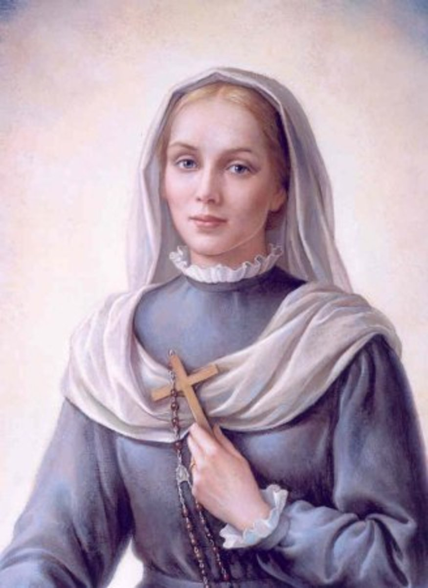 Artist's depiction of St. Virginia when she lived.