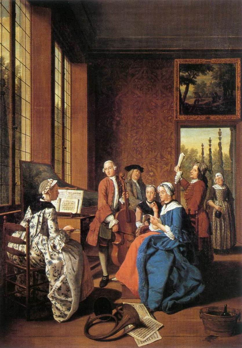 Jan Josef Horemans Concert in an Interior