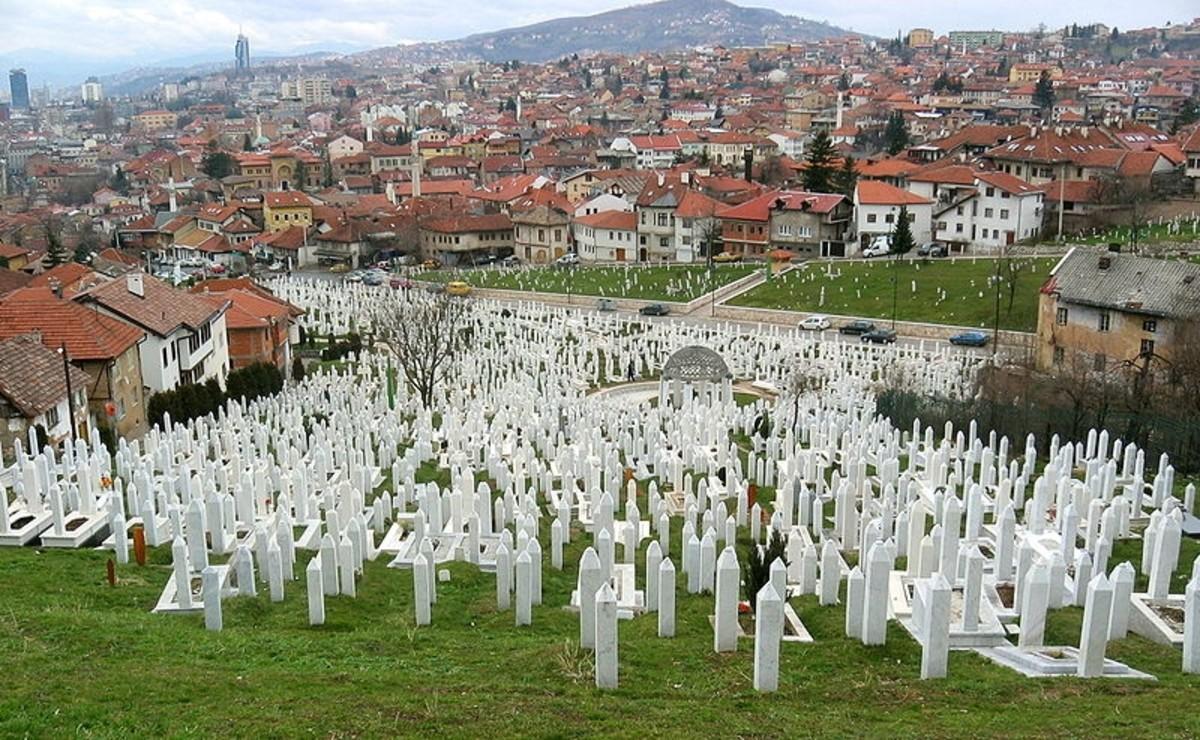 Martyrs' memorial cemetery in Sarajevo.