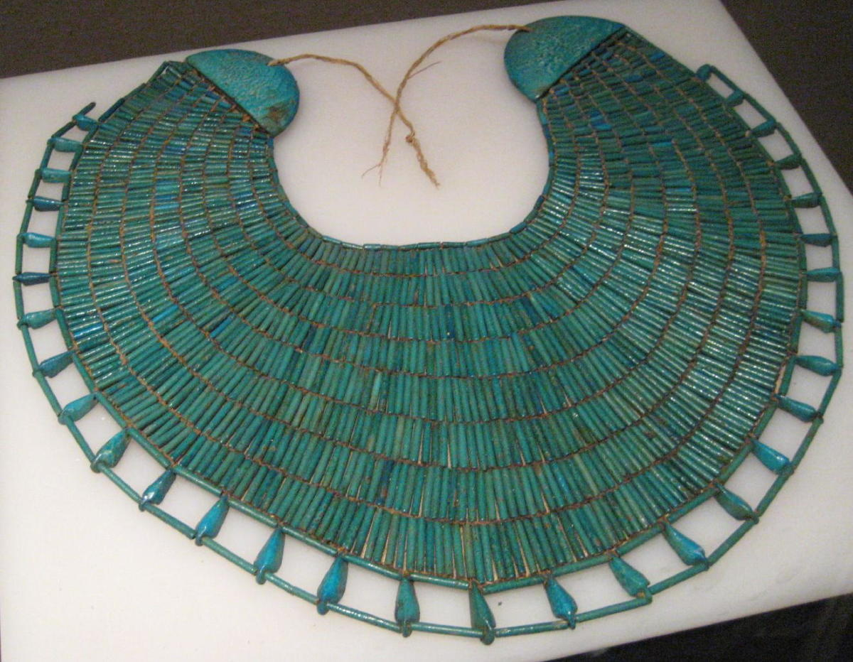 Some Egyptians would wear ornate collars like this one.