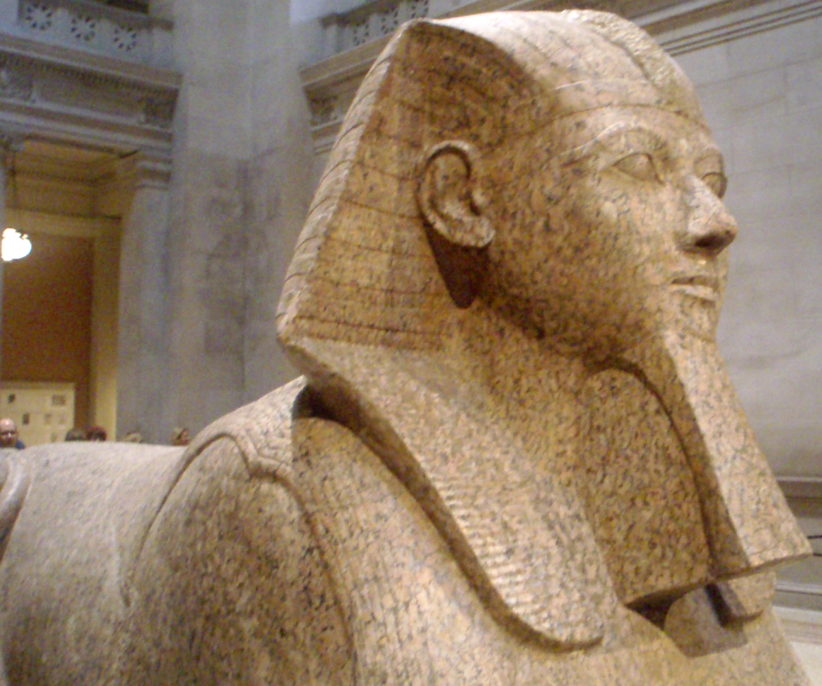 This sphinx is believed to have been built during the reign of Pharaoh Hatshepsut. It is also believed to be of her likeness as well.