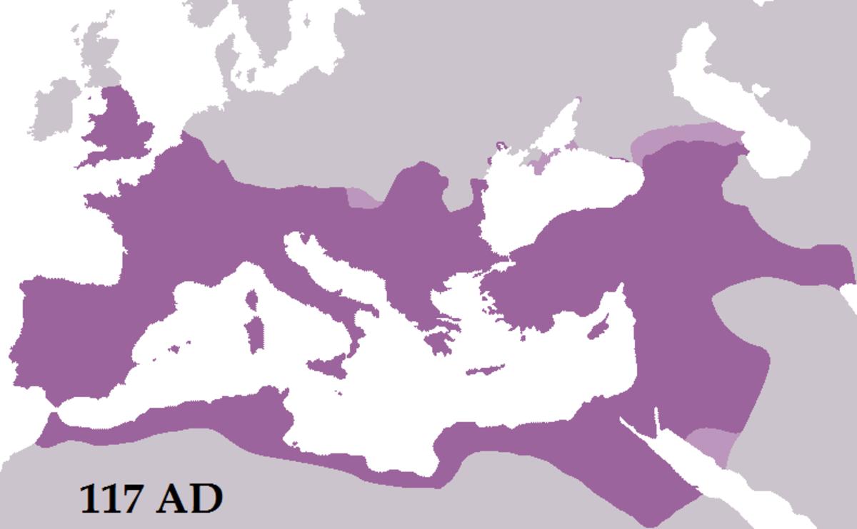 Roman Empire under Trajan - Client states in pink