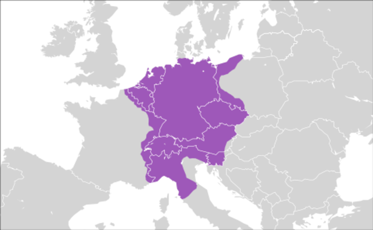 Holy Roman Empire at it's largest extent
