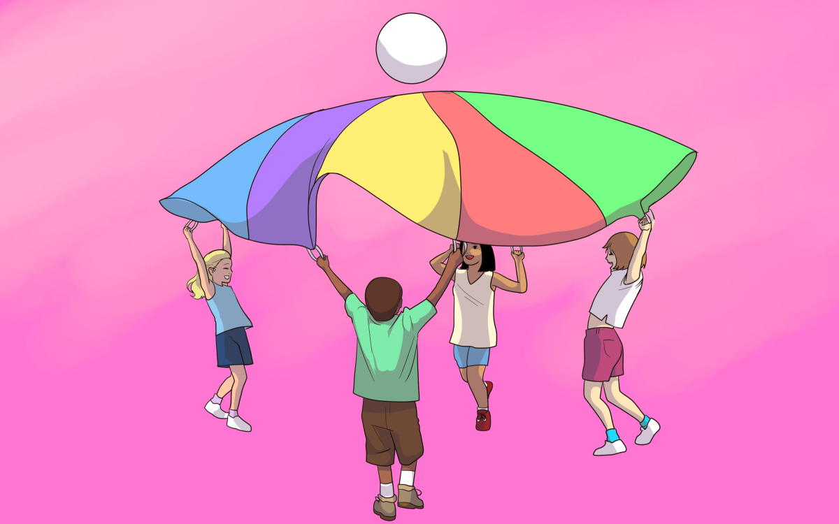 Parachute games are a fun and adaptable addition to circle time.