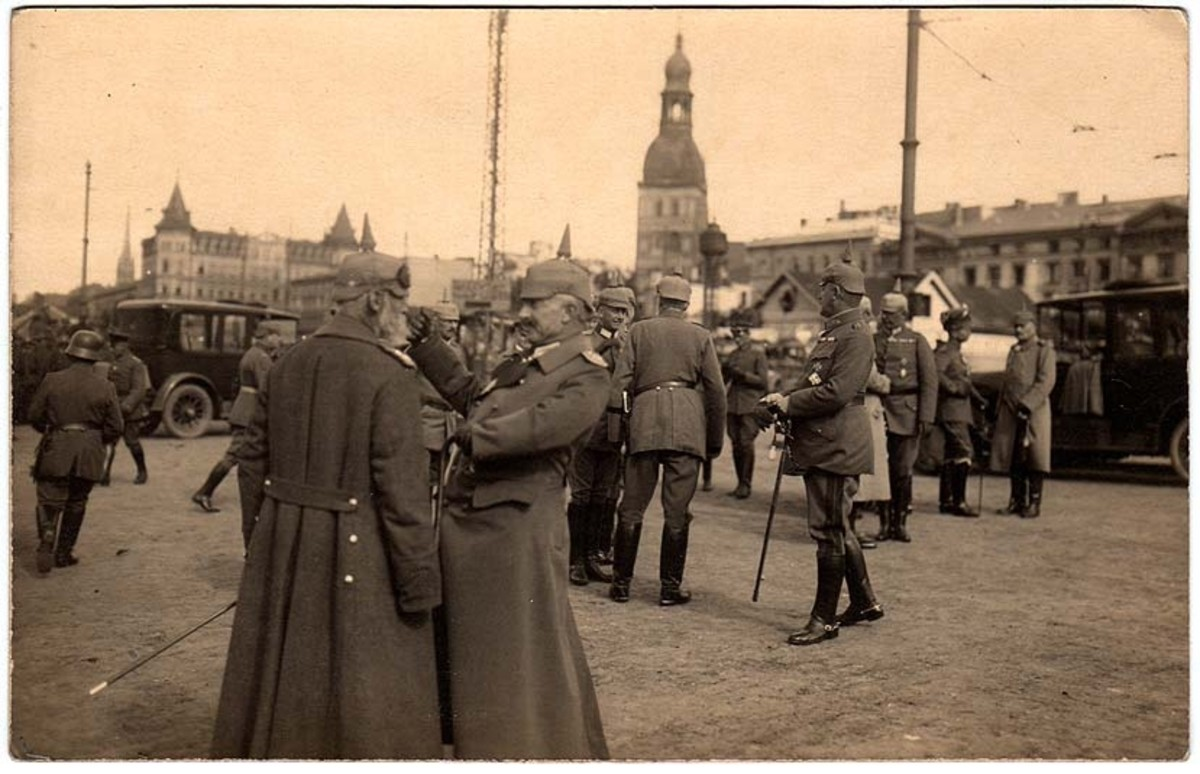 German officers in Riga during World War I